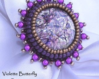 Imposing ring beads, embroidered ring Alessia - high jewelry - luxe