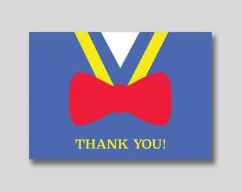 INSTANT DOWNLOAD Donald Duck Thank You Card -  DIY Printable