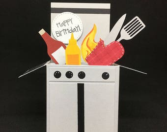 Grilling Barbeque Birthday Card in a box
