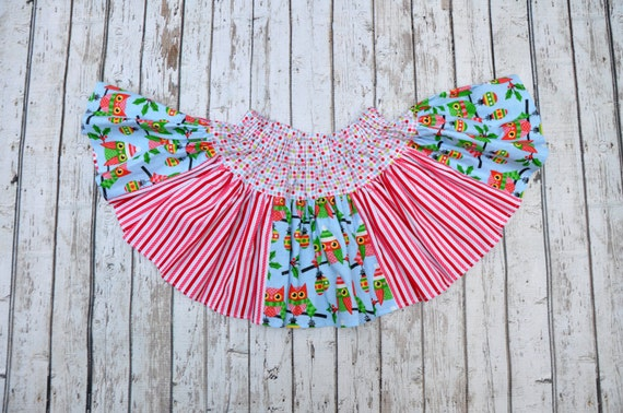 Winter Owl Twirl Skirt 18/24 MTH