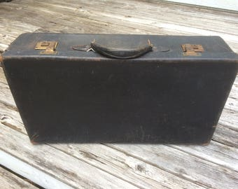 Luggage, Suitcase, Valise, Black, Likly, 1910 - 1925