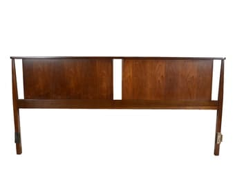 Walnut Head Board  King Size Headboard Mid Century Modern