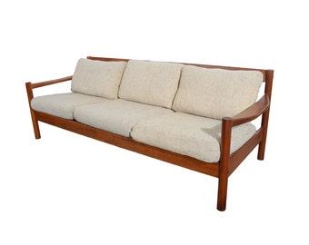 Teak Sofa Mid Century Modern 1970 Fin Juhl Style Danish Modern