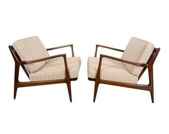 Lounge Chairs Danish Modern Kofod Larsen Style