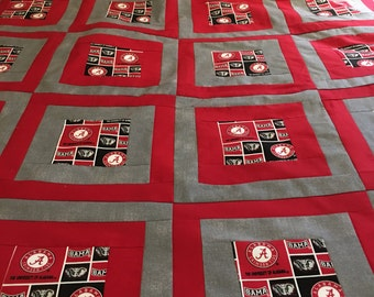 University of Alabama Quilt Top 42x66