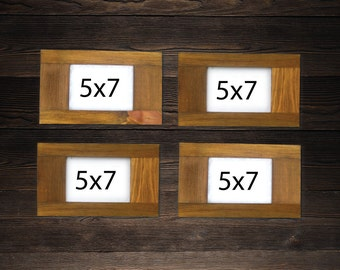 "Rustic Frame SET OF 4 5""x7"" Elongated Frames made of reclaimed wood"