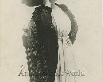Silent film star Jane Cowl The Gamblers antique photo