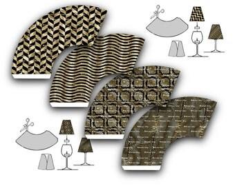weinglas lampenschirm etsy. Black Bedroom Furniture Sets. Home Design Ideas