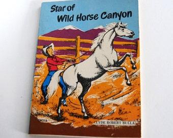 Vintage Children's Book, Star of Wild Horse Canyon