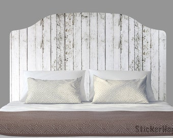 Distressed White Wooden Fence Wall Decals Graphic Vinyl Sticker Bedroom Wall Home Decor