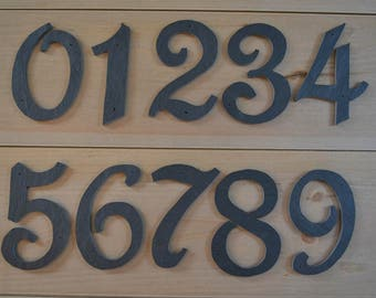 Slate House Numbers - Mail Box Post Numbers - Horizontal or Vertical - Single Number