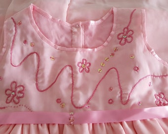 pink Handmade Girls dress 3-4 years