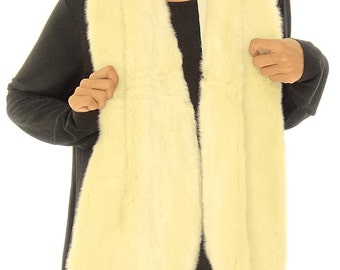 GU400 ladies scarf fur unechter fur white