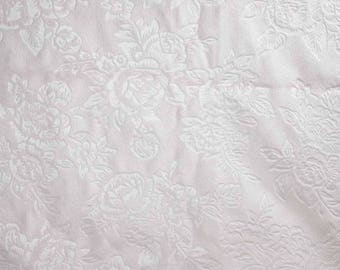 One Yard and 24 Inches Light Pink Rose Soft N Comfy Dot Fabric