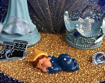 Mom to Be Prince Baby Boy Cake Top Centerpiece Decoration