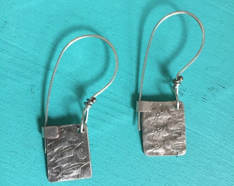 Antique Sterling Silver Swiftcurrent Lake Earrings