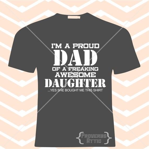 Proud Dad T Shirt File Screenprint Shirt Vinyl Decal Cutting