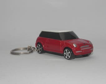 "Mini Cooper S Free Shipping Birthday and anniversary gift Key Chain 3"" Collectible Metal Diecast Scale Model Car."