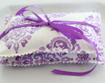 Two Organic Lavender Sachets-French Sachets- Floral Fabric Sachets -Wedding Shower Gift- Baby Shower Gift- Housewarming Gift Sachets