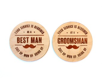 TIMBER Best Man / Groomsman Coaster