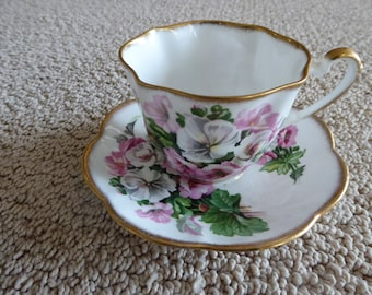 Vintage Salisbury  Cup and Saucer Made in England Bone China
