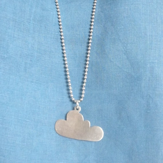 Cloud Pendant - Sterling silver with 2mm ball chain