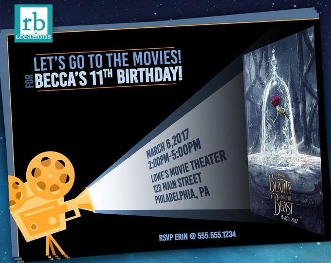 Movie Party Invitations, Movie Invitation, Movie Birthday, Movie Poster Invitation, Movie Invite, Movie Night Party - Digital Printables