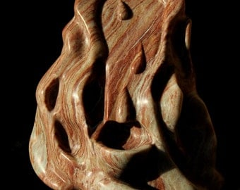 Sangue di Christo,  Stone sculpture of Cranberry Alabaster, Religious, Original, Church, Windsor Locks,