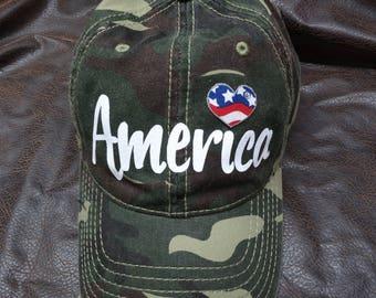 I love America Camo Hat