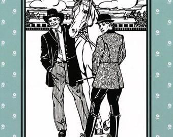Folkwear Countryside Frock Coat Sewing Pattern # 263 Women XS-XL, Men S-XXL Traditional, Historic Military or Western Reenactment