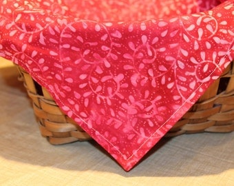 Red and Pink Basket Liner