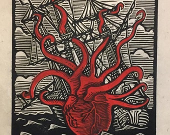 Heart of the Sea Block Print