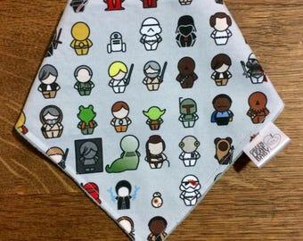 PREORDER Star Wars baby bib, Star Wars bandana bib, Star Wars baby gift, Jedi baby shower gift, gender neutral bandana bib