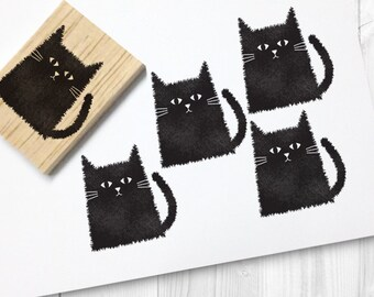 cat rubber stamp - FREE SHIPPING WORLDWIDE*