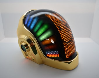 DP Chrome Helmet With Full Leds And Front Matrix.  Includes gloves, stand, neckalce, and new smart phone