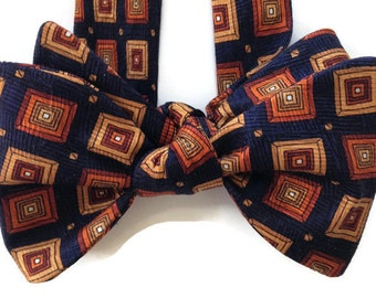 Silk Bow Tie for Men - Tarus  - One of-a-Kind, Handtailored, Self-tie - Free Shipping