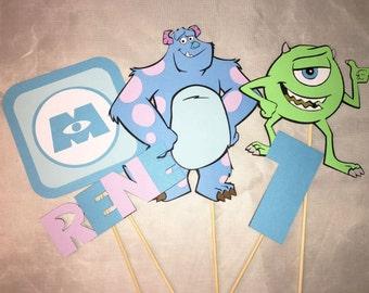 5 pc Monster Inc. centerpiece, Monster Inc. party, Monster Inc. Birthday