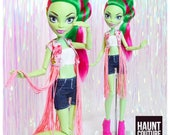 """Monster Doll Haunt Couture 2017 """"Boochella"""" high fashion doll clothes overalls"""