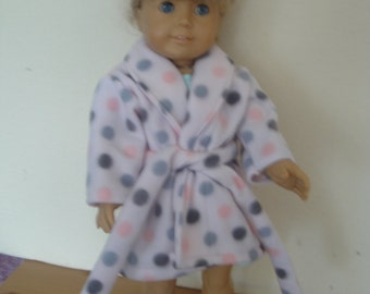 Bath robe in pink and grey