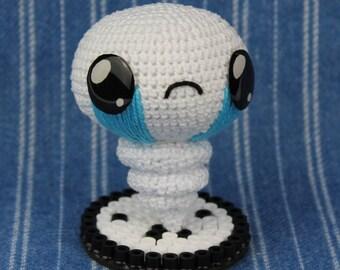 Isaac Lost Plush, Isaac Amigurumi, Crochet Isaac, The Binding of Isaac, Geek Gift, Nerd Gift, Gamer Gift, Geek Plush, Nerd Plush, Isaac Toy