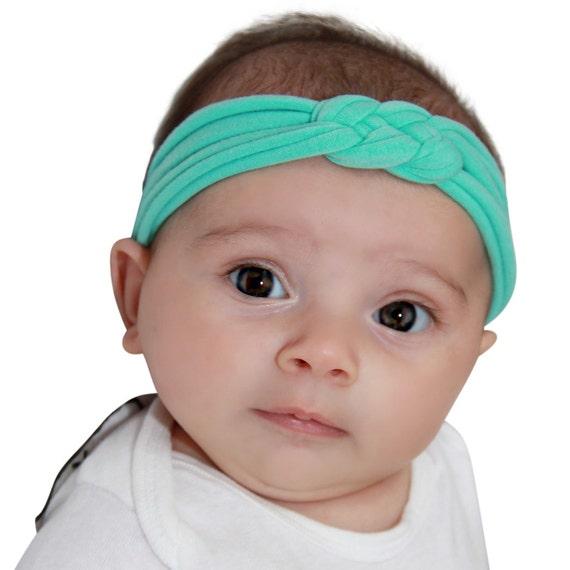Mint Knot Headband, Mint Headband, Turban Headband, Baby Headband, Knot Headband Adult, Knot Headband Baby, Baby Girl Headband, Baby Gifts