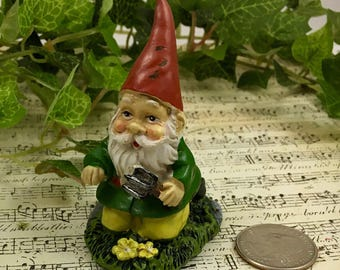 Great Mini Garden Gnome, Mini Gnome Garden, Fairy Gnome Figurine