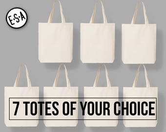 7 Market Totes Of Your Choice