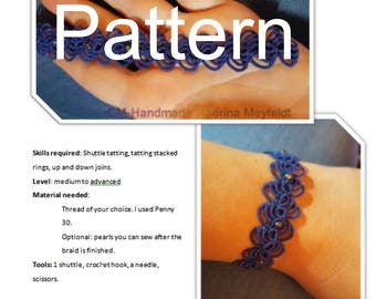 Pattern for the tatted bracelet Clusters