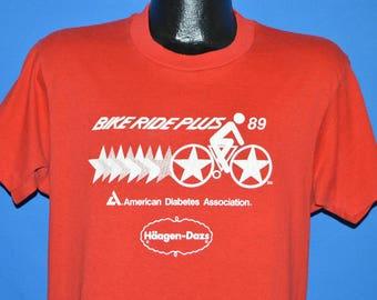 80s Bike Ride Plus Haagen Dazs 1989 t-shirt Large