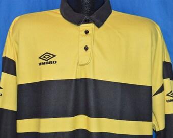 80s Umbro Yellow Black Soccer Goalie Jersey t-shirt Extra Large