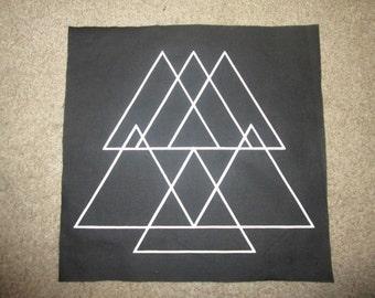 Sacred Geometry C Back Patch - Print, Screen Print, Punk, Patch, Stencil, Art.