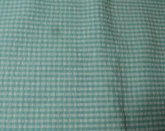 "Aqua, plaid, checked print, gingham, textured,  34"" x 34""  (Aqua and white)"