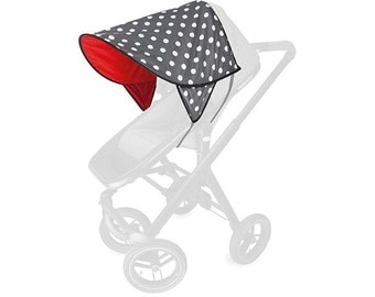 DAISY awning polka anthracite / Red