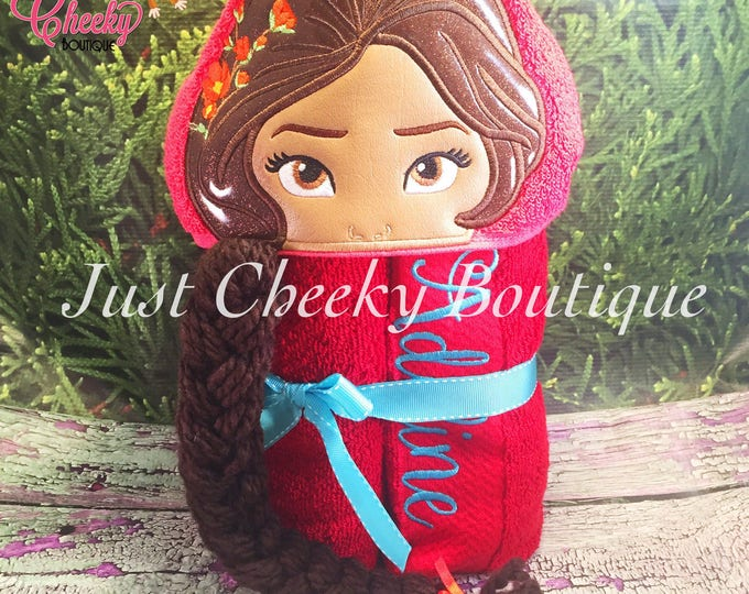 Crowned Princess Inspired Hooded Towel - Princess Elena- Elena of Avalor - Disney Vacation - Disney Birthday - Disney Junior
